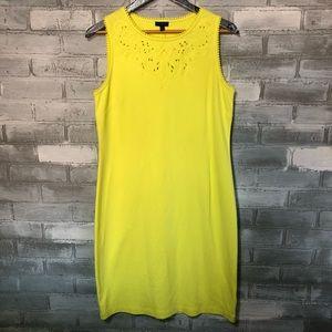 Talbots | NWT Neón green/yellow Cotton Dress